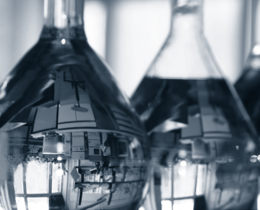 Beakers with Reflection